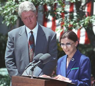Bill Clinton et Ruth Bader Ginsburg